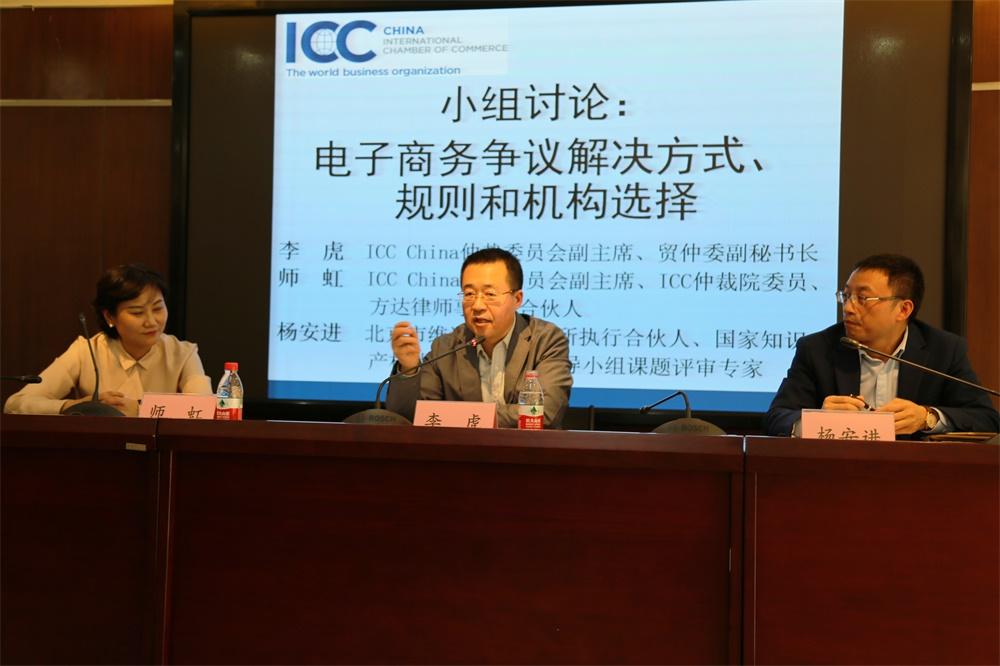 李虎副主席、师虹副主席及杨安进律师探讨电子商务争议解决的方式、规则和机构选择.jpg