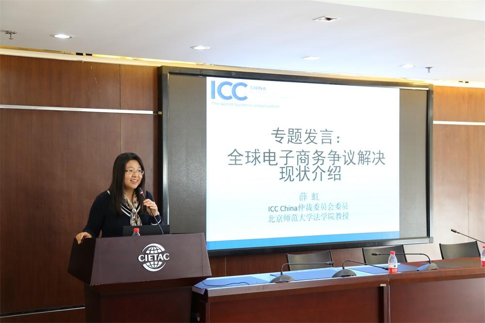 薛虹教授介绍全球电子商务争议解决的现状.jpg